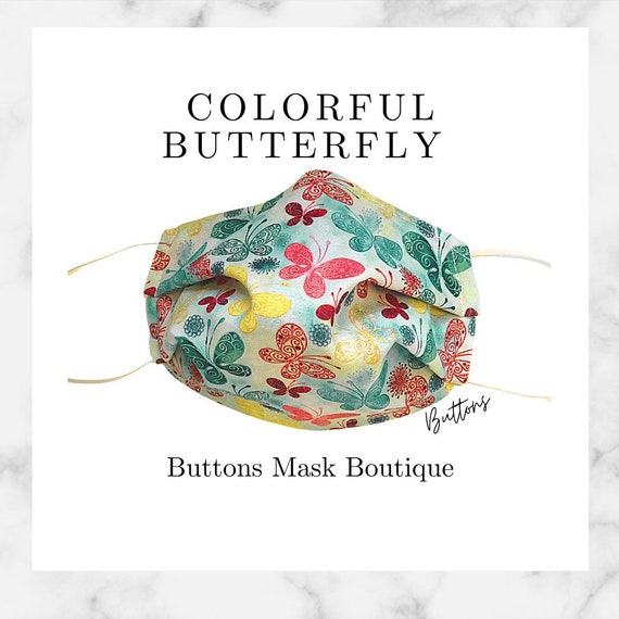 Butterfly Face Mask- Anti Fog Face Mask - Face Mask for Glasses - Face Mask