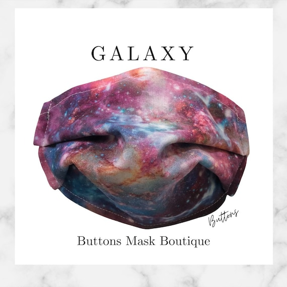 Galaxy Face Mask- Anti Fog Face Mask - Face Mask for Glasses - Space Face Mask