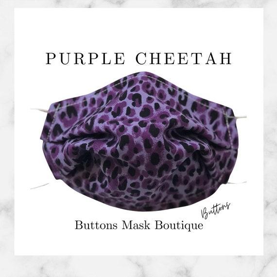 Cheetah Face Mask- Anti Fog Face Mask - Face Mask for Glasses