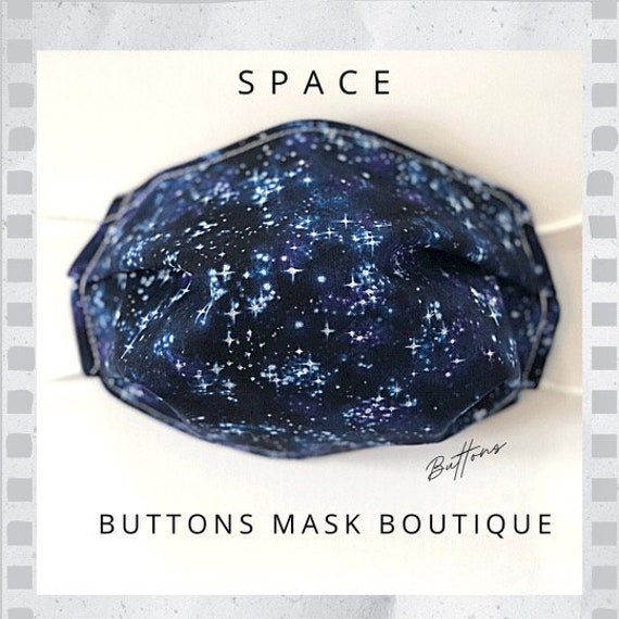 Space Face Mask - Anti Fog Face Mask - Face Mask for Glasses