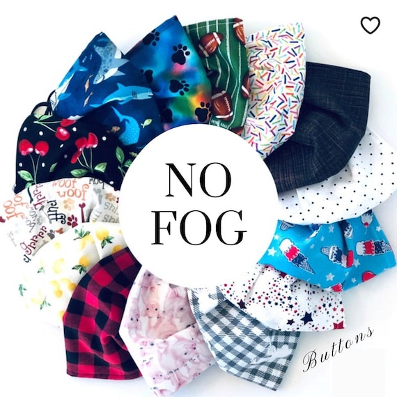 Fitted Face Mask - Anti Fog Face Mask - Nose Wire - Filter Pocket - Two Layer Face Mask - Mask for Glasses -Adult Face Mask - Kids Face Mask