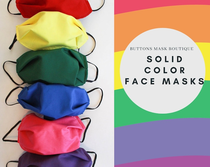 Featured listing image: Anti Fog Face Mask for Glasses - Solid Color Face Mask - Double Layer Mask