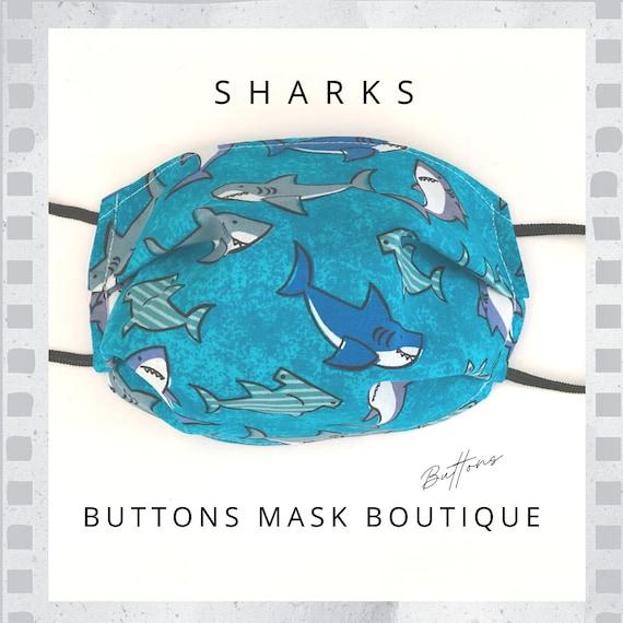 Anti Fog Face Mask - Shark Face Mask - Face Mask with Filter Pocket - Face Mask Adult - Face Mask Kids