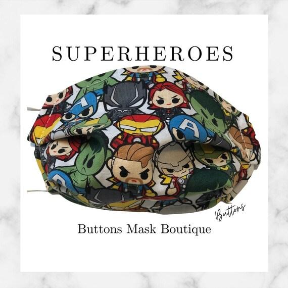 Superhero Face Mask- Anti Fog Face Mask - Face Mask for Glasses