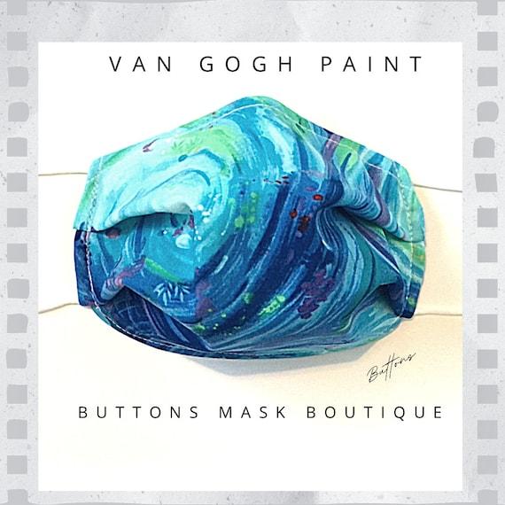 Mask for Glasses - Anti Fog Face Mask - Van Gogh Face Mask