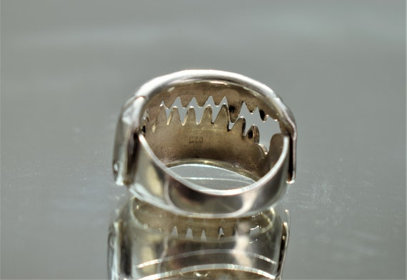 Large Silver Jaws Ring, Unisex Silver Teeth Ring,… - image 5
