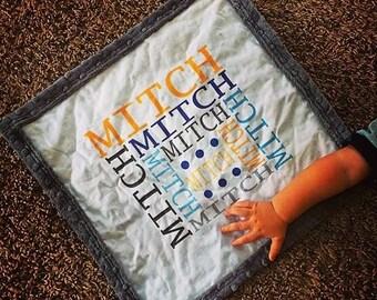 PERSONALIZED LOVIE - Baby Blanket - baby gift, baby shower, stroller blanket, receiving blanket, lovie