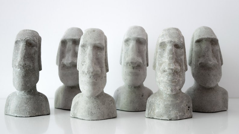 4027f000521 Easter Island heads Moai concrete gift sculpture Statue cement