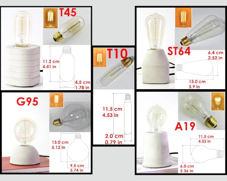 Concrete lamp Table light Livingroom light Edison bulb Modern cement Beton lamp EU 220v US 110v standart interior office  housewarming gift
