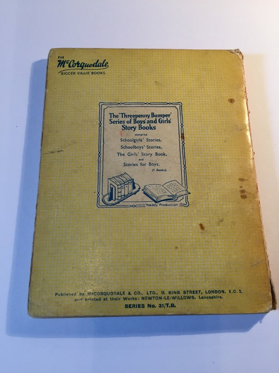 The Girls Story Book Vintage Children's Book from 1930's McCorquodale  Bigger Value Books