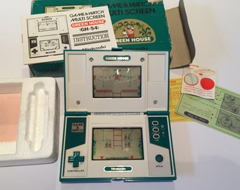 Vintage Nintendo Game and Watch Greenhouse Two Screen Hand Held Game