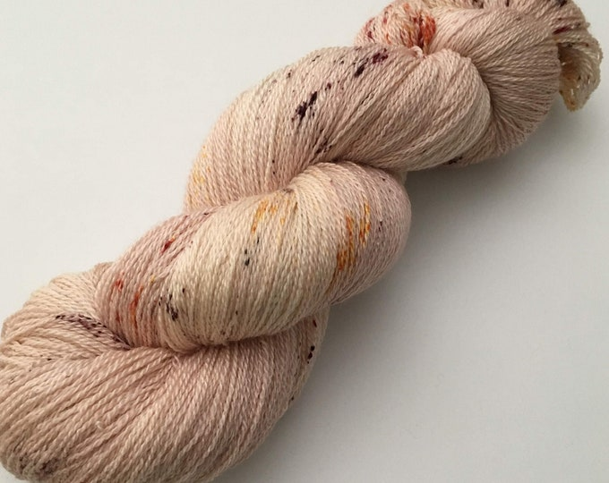 Wool - Merino and silk - hand dyed - lace
