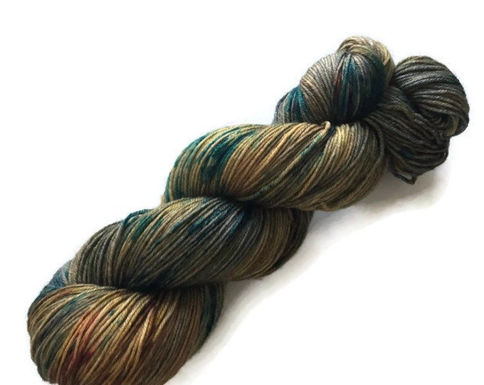 Fingering Merino Wool and hand dyed Nylon