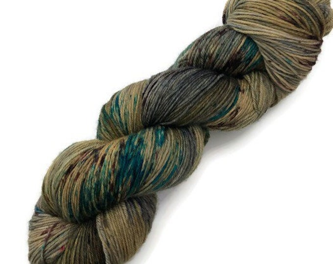Fingering Merino Wool and hand dyed Nylon