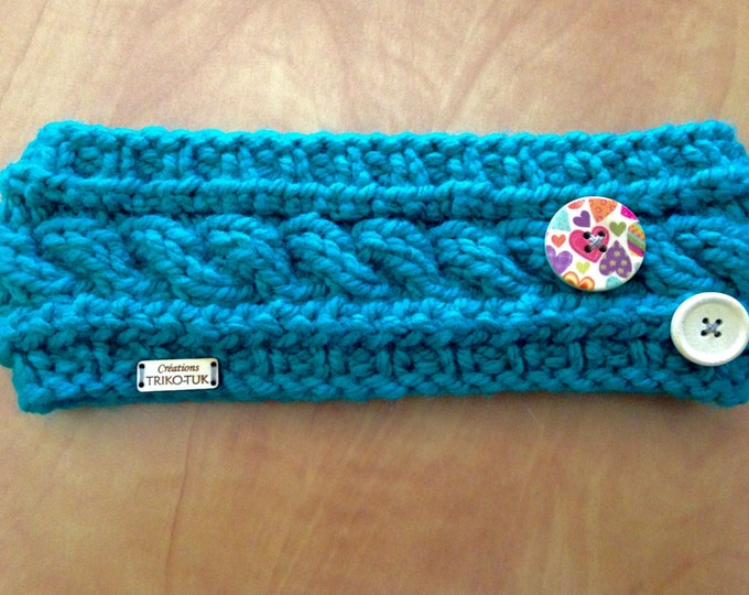 "CLEARANCE headband kids knit, 100% acrylic, model ""Anna"""