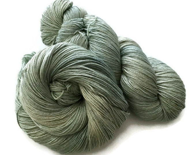 75% Superwash Merino Fingering yarn and hand dyed silk