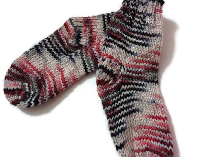 Bottom handknitted Merino and Nylon 6-12 months baby girl - socks