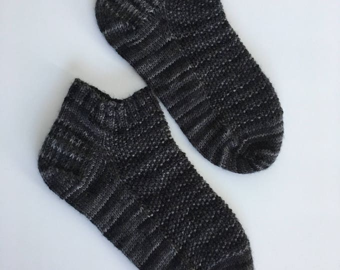 Socks (short bottoms) stockings size 5-6.5 knitted by hand