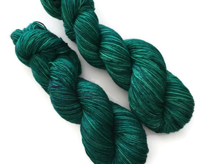 100% Nylon extra fine 19 micron superwash Merino Fingering yarn hand - dyed wool at bottom