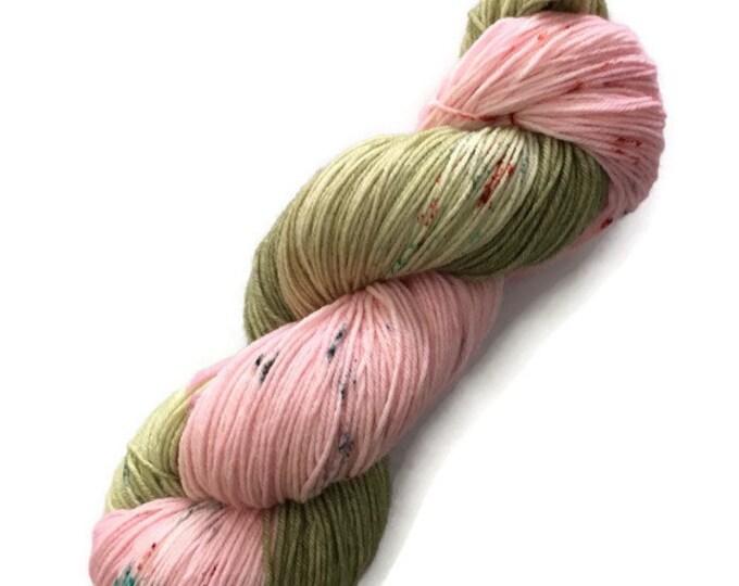 Wool Merino Nylon Superwash Fingering 19.5 microns extra fine hand - dyed wool at bottom