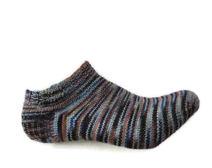 Socks (bottom short) stocking socks size 6-7 knitted by hand