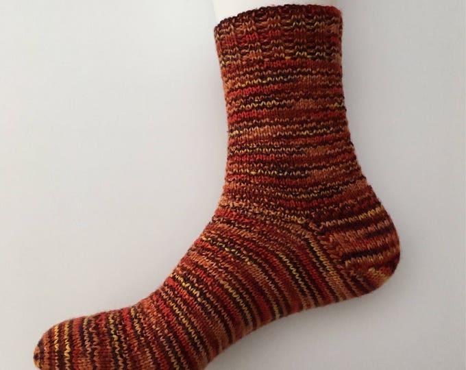 Low socks handknitted Merino and Nylon, size 8-9-10