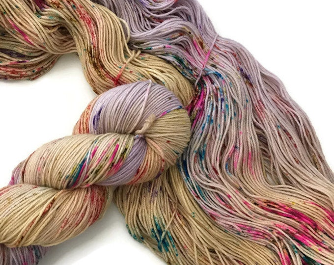 Wool Merino Nylon Fingering Super fine 19 micron hand - dyed wool at bottom