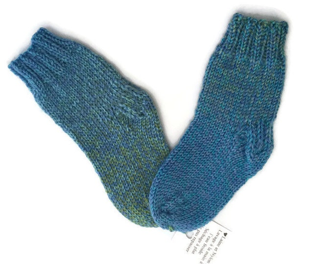 Low in Merino and Nylon baby 6-12 months hand - knitted socks