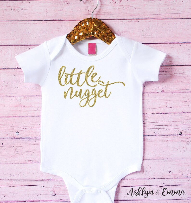 Baby girl outfit one piece outfit Baby bodysuit girl Unique baby shower gift Little nugget Baby girl clothes Newborn gift