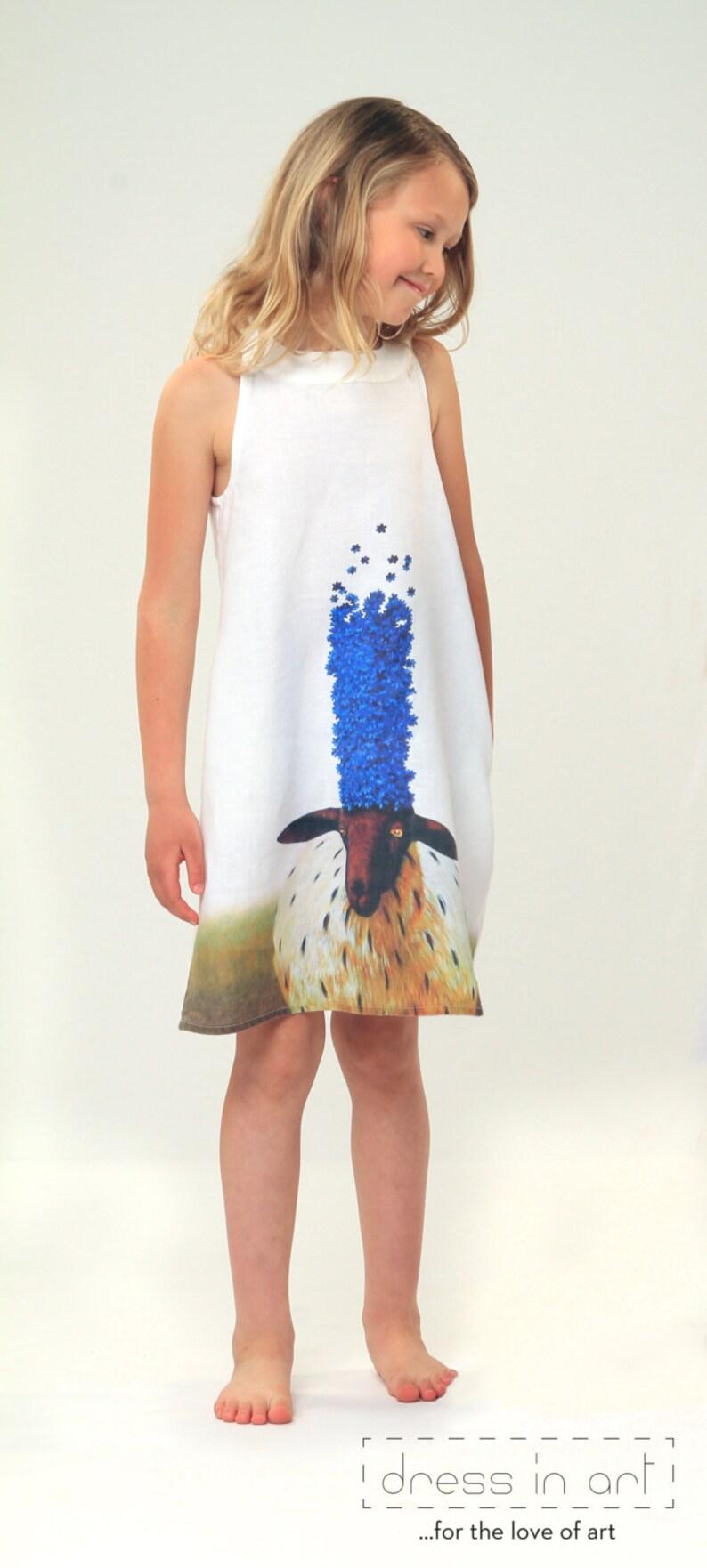 1d590fbb47 Girls linen pattern dress Summer linen dress Toddler girl