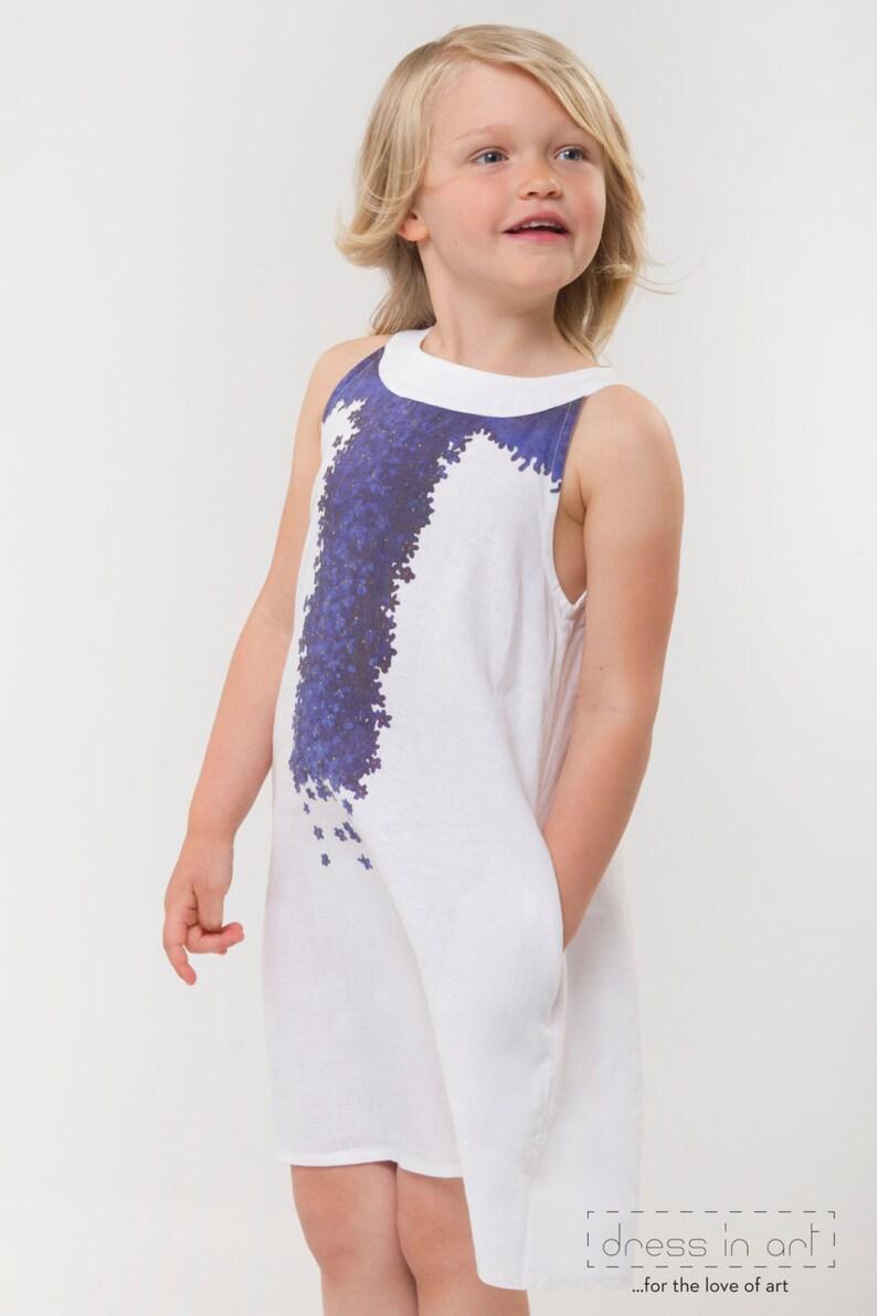 4327efc16529 Linen kids clothing Flower girl dress Holiday girls dress | Etsy