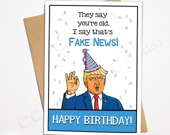 photo about Donald Trump Birthday Card Printable named Trump birthday card Etsy