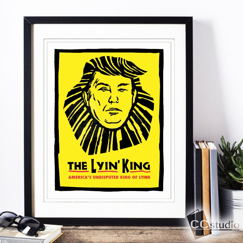 Lyin King Print Impeach Trump Trump Art Lion King Print image 0