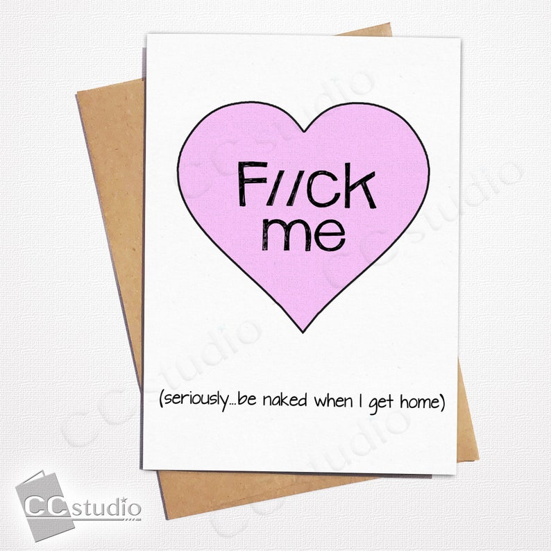 Naughty Valentines Day Card F Me Be Naked When I Get