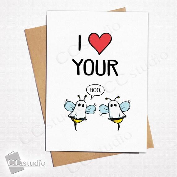 I love you Love Ya Just Because Boo Anniversary Valentines Card