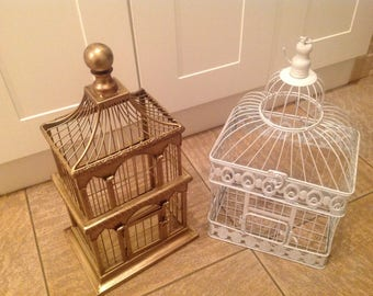 Two display bird cages