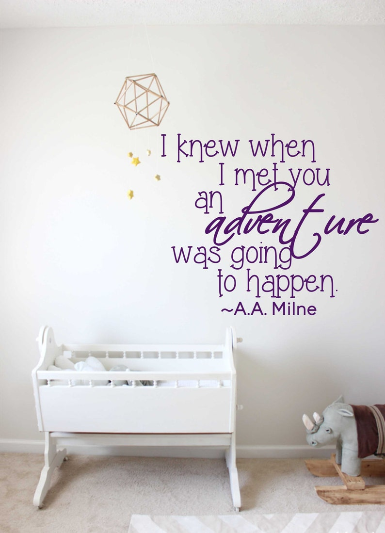 Winnie The Pooh Aa Soon As I Saw Children  Art Wall Quote Stickers Wall Decal b