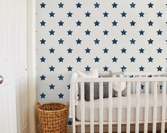Bohemian stars removable wallpaper - starry night for your little one, BW148