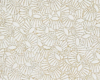 Origami Paper - Washi Paper - Yuzen Paper - Chiyogami Paper - Various Pack Sizes - Small Gold Dotted Balls on White - #325