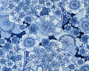 Origami Paper - Washi Paper - Yuzen Paper - Chiyogami Paper - Various Pack Sizes - Large Blue Blossoms - #946