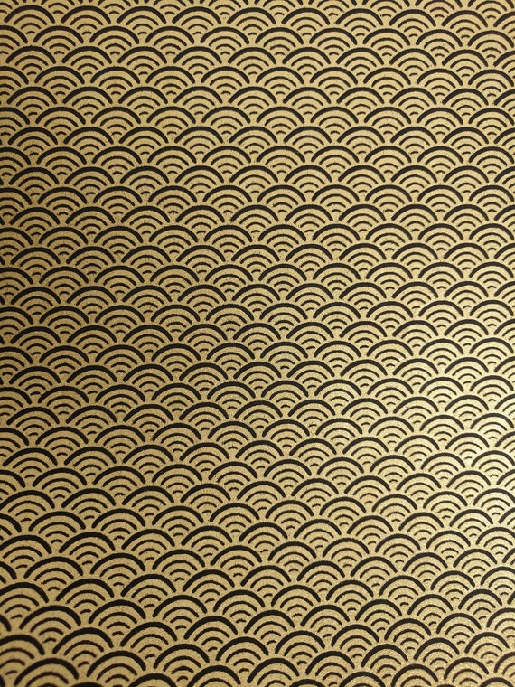 Origami Paper Yuzen Black /& Gold 6X6 5 Sheets