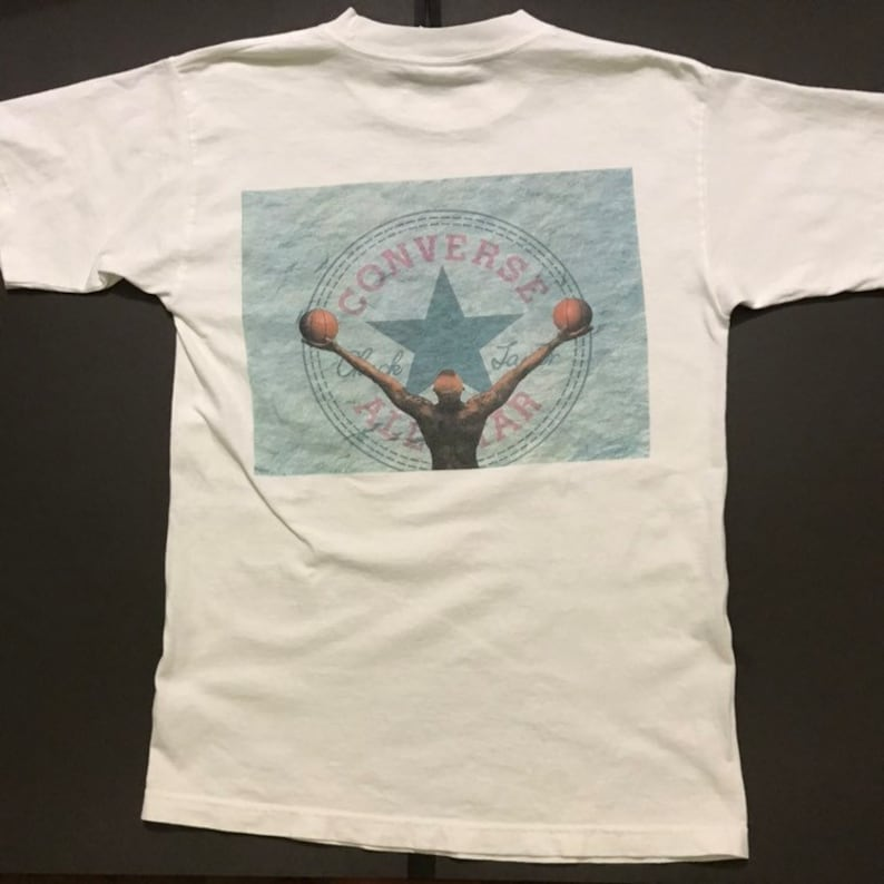 641eea5ab2bcf Dennis Rodman 90's T-Shirt by Converse All Star Size M White Made in USA  NBA Chicago Bulls Jordan