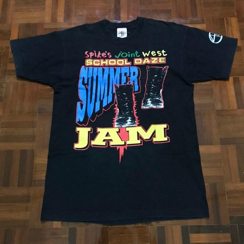 78d8e88fab7d7 Spike's Lee Joint West School Daze Summer Jam Rap Concert 1993 T-Shirt  Black Size L Made in USA 40 Acres and a Mule Vintage