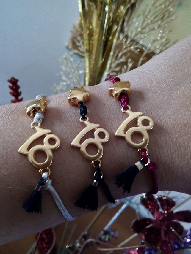 Glücksbringer Armband Glücksbringer 18 Jahre altes Mädchen 18 | Etsy