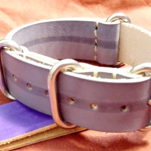 MADE in ITALY water repellent leather real Italian leather - Nato Strap