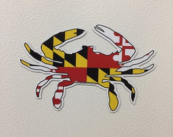 Maryland Flag Crab Magnet