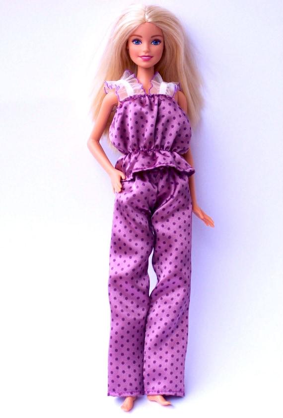 Purple and White Genuine BARBIE PJs Pajamas Night Clothes Fashion Clothes SASSY
