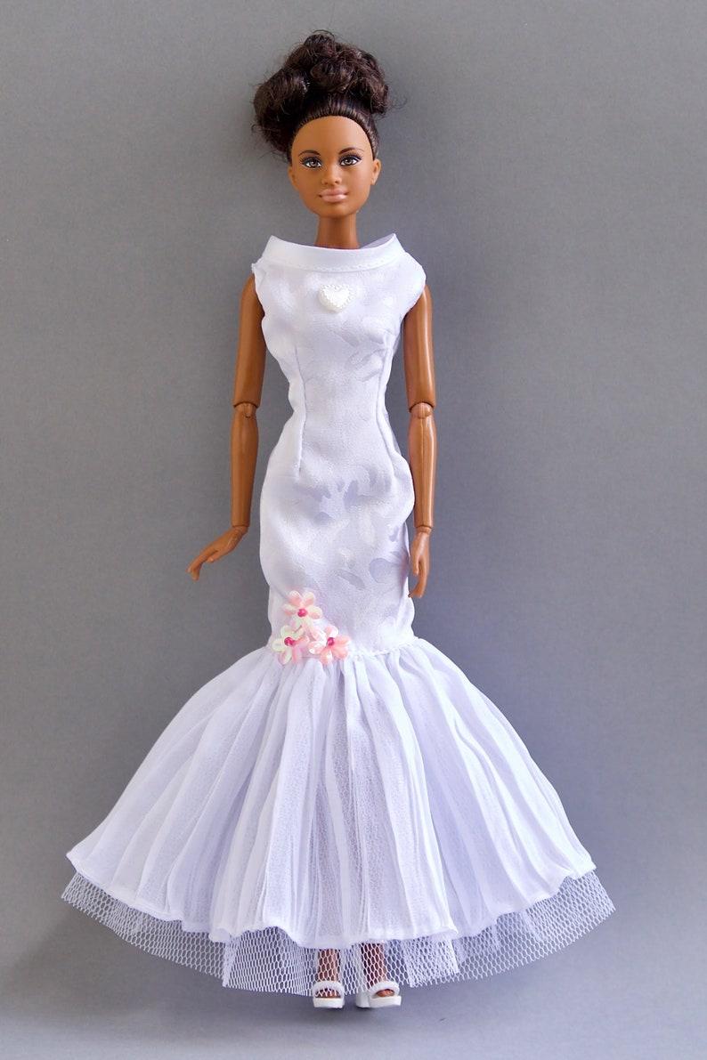 Barbie Wedding Dress.Barbie Clothes Barbie Wedding Dress Barbie Bridal Dress Party Dress Barbie Doll Clothes Fashion Royalty Clothes Poppy Parker