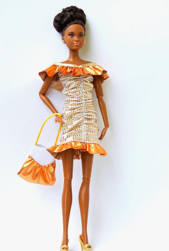 the best attitude a5a18 7aa60 Vestiti di Barbie - Barbie abito e borsa Barbie - vestiti per le bambole  Fashion Royalty, figura di azione 12 pollici, vestiti per le bambole  Barbie, ...
