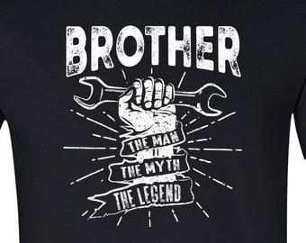 f7084841 Brother The Man The Myth The Legend Garage Tshirt, Gift for Brother,  Birthday Gift, Handy Man Tshirt, Mens Tools TShirt, Mr. Fix It Tshirt,